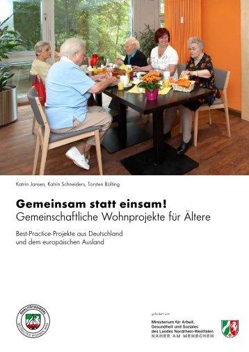Gemeinsam statt einsam! - Qualitätssiegel Betreutes Wohnen
