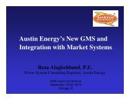 Austin Energy's New GMS and Integration with Market Systems