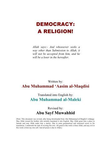 Abu Muhammad Asim al Maqdisi - Democracy - A Religion