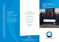 Executive Master of Business Administration Programme - Namibia ...