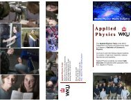 Download WKU Applied Physics brochure - Physics and Astronomy
