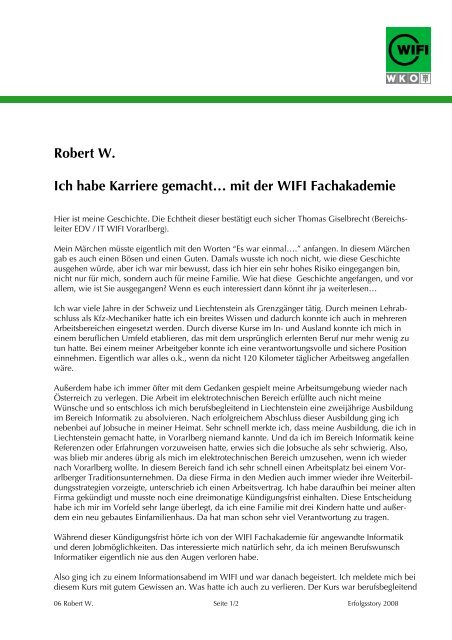 Quantitative Entwicklungen im Bereich Lehre und ... - WIFI Vorarlberg