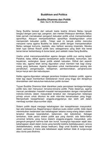 Buddha Dhamma dan Politik.pdf - Ven Dr K Sri Dhammananda
