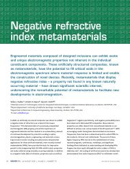Negative refractive index metamaterials - Dimitri Basov Lab