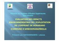evaluation des impacts environnementaux de l'exploitation de l ...