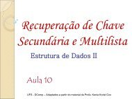 Chaves Secundárias - Ufs