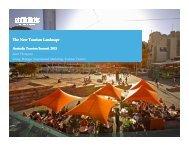 The New Tourism Landscape - Tourism Australia