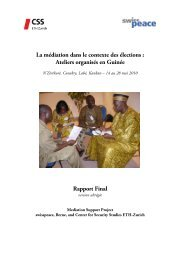 Rapport Final - Center for Security Studies (CSS)