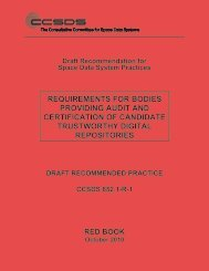 CCSDS 652.1-R-1, Requirements for Bodies Providing Audit and ...