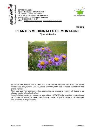 PLANTES MEDICINALES DE MONTAGNE - WEBRESA
