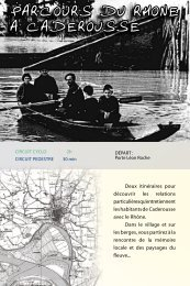 Parcours du Rhône à Caderousse - CCPRO