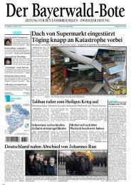 Dach von Supermarkt eingestürzt Töging knapp an Katastrophe vorbei