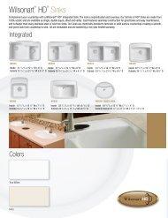 Wilsonart HD Sinks Wilsonart Wilsonart Solid Surface Sinks