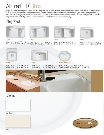 Wilsonart HD Sinks Wilsonart Wilsonart Solid Surface Sinks