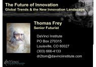 Madrid - Future of Innovation 5-29-2009 Thomas Frey - OPTI
