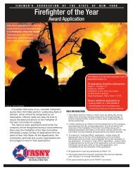 Firefighter of the Year Award Application - FASNY