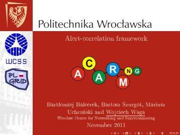 Alert-correlation framework - Projekt PL-Grid