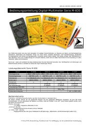 Bedienungsanleitung Digital-Multimeter Serie M-830 - LED-Tech