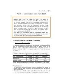 Point de conjoncture à mi-mars 2007 - Cellule Économique du ...