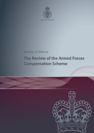 Review of the AFCS - Veterans Agency