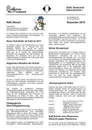 RAS Aktuell Dezember 2010 - Realschule Am Stadtpark