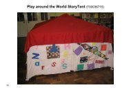 Play around the World StoryTent (T00036715) - Global Footprints