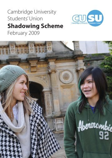 Shadowing Scheme 2009 Report (PDF) - Cambridge University ...