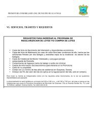 VI SERVICIOS TRAMITES Y REQUISITOS