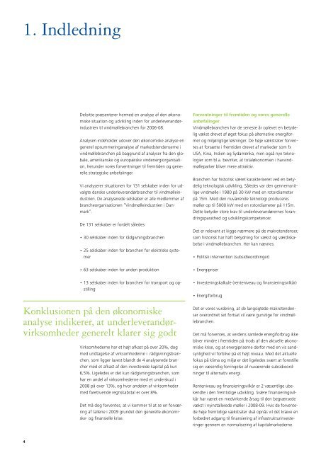 Analyse af leverandører til vindmøllebranchen Markedsnyt 2009