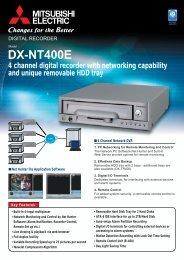 Mitsubishi DX-NT400E Product Datasheet - SLD Security ...