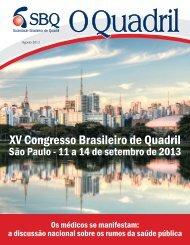 XV Congresso Brasileiro de Quadril - Sociedade Brasileira de Quadril