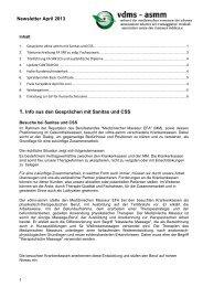 Newsletter April 2013 1. Info aus den Gesprächen mit ... - vdms
