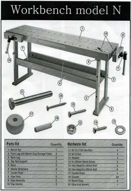 Assembly Workbench Instructions - Highland Woodworking