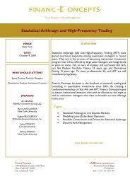 Statistical Arbitrage and High-Frequency Trading - Finance Concepts
