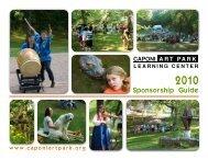 Family Fun Tuesdays Producing Sponsor - $750 - Caponi Art Park