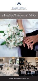 Wedding Packages 2013/14 - Beales Hotels