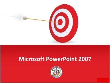 Microsoft Power Point 2007 - Caribbean University
