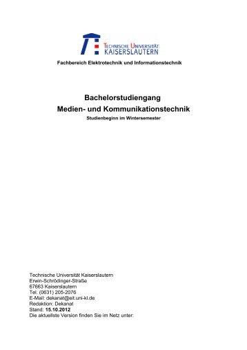 Bachelorstudiengang Medien- und Kommunikationstechnik