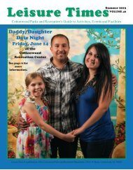 Leisure Times - Summer 2013 edition - City of Cottonwood