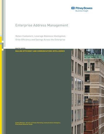 Enterprise Address Management - Pitney Bowes Business Insight