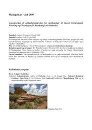 Madagaskar – juli 2009 - Dansk Dendrologisk Forening