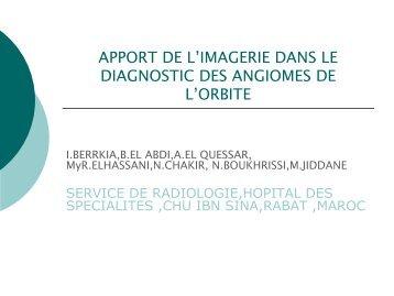 apport de l'imagerie dans le diagnostic des angiomes de l'orbite