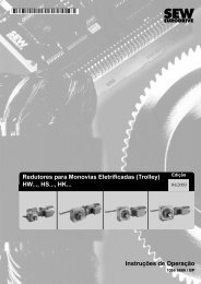 Redutores para Monovias Eletrificadas (Trolley ... - SEW-Eurodrive