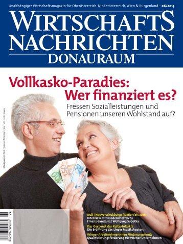 Ausgabe 06/2013 Wirtschaftsnachrichten Donauraum
