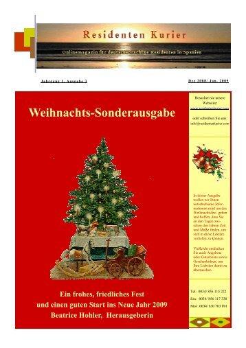 nkurier Nr. 3. Dezember 2008, Weihnachtsausgabe