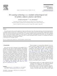 Journal of Archaeological Science, 35 - Institute of Archaeology