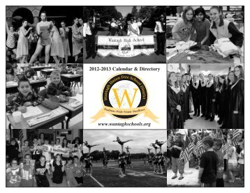2013 District Calendar - Wantagh School