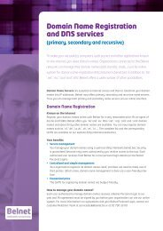 Domain Name Registration and DNS services - Belnet
