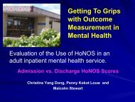 Getting To Grips with Outcome Measurement in Mental Health