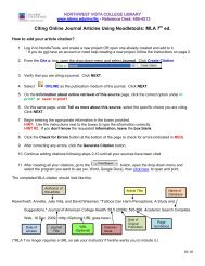 Citing Sources Using NoodleTools: MLA - Alamo Colleges